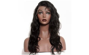 12Inch lace front wig body wave 1b color