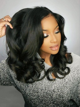 Pre Plucked 360 Lace Frontal Wig 180% Density Ligth Yaki Full Lace Wgis