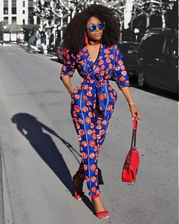 Womens Rompers Jumpsuit Summer 2018 New Women African Print Clothing 3/4 Sleeves Casual Sexy Fashion Party Wide Leg Pants