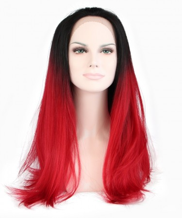1B/Red Ombre Women Fashion Synthetic Wig