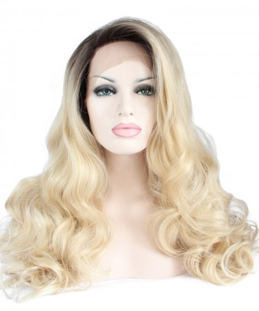 Side Part Synthetic 1B/Blonde Ombre Wig