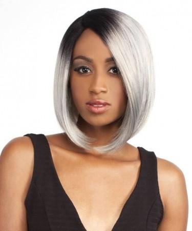 1B/Grey Ombre Short Bob Style Synthetic Wig