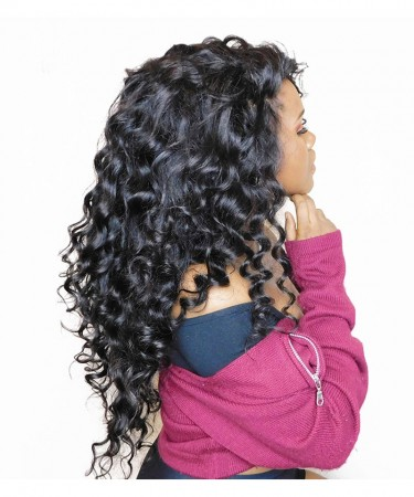 250% Density Lace Front Human Hair Wigs 13X6 Pre Plucked Hairline Loose Wave Peruvian Lace Front Wig Natural Color