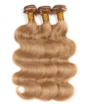 #27 Brazilian Virgin Hair Body Wave 3 Pcs 100% Unprocessed Human Hair Weave