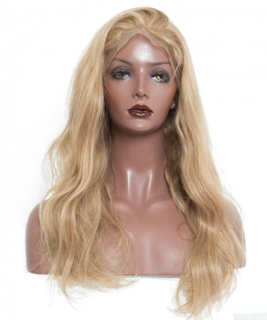 Body Wave Blonde Wig 250% Density Lace Front Wigs With Baby Hair #27 Brazilian Remy Human Hair Wigs