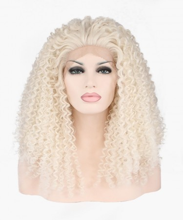 Light Blonde Deep Curly Synthetic Wig