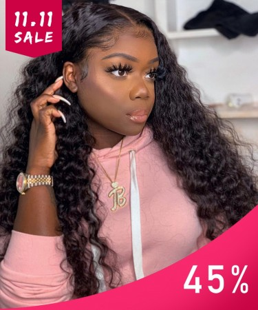 Msbuy Hair Wigs 13x6 Deep Part Lace Front Human Hair Wigs 150% Density Deep Curly Lace Front Wigs For Black Women