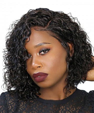 Wavy Bob Wig For Black Woman 13X6 Short Lace Front Wig 150% Density