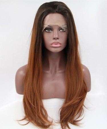 1B/Brown Ombre Straight Synthetic Wig