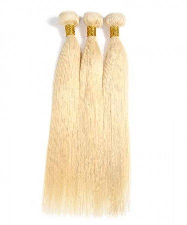 Straight 613 Blonde Brazilian Hair Bundles 100% Human Hair Weave