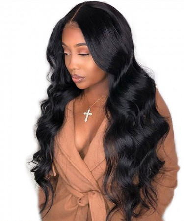 180% Density 360 Lace Wigs Body Wave For Black Women Pre Plucked Lace Wig