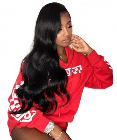 Msbuy Hair Wigs 180% Density Body Wave Full Lace Wig Pre Plucked Human Hair Natural Color Full Wigs With Baby Hair