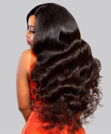 Msbuy New Designed 370 Lace Frontal Wig Body Wave For Black Women Pre Plucked With Baby Hair Brazilian Lace Front Wig