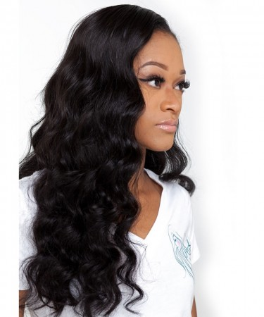Lace Front Human Hair Wigs Loose Wavy 250% Density Wigs