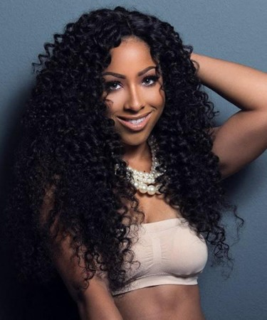 Deep Curly 250% Density Lace Front Human Hair Wigs For Black Women