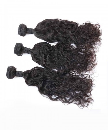 3 Pcs Water Wave Brazilian Hair Bundles Cutile Kept Remy Hair Weaves