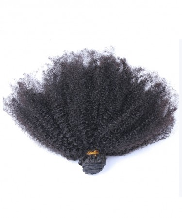 Afro Kinky Curly Virgin Hair Weave Double Weft Human Hair 1 Bundle