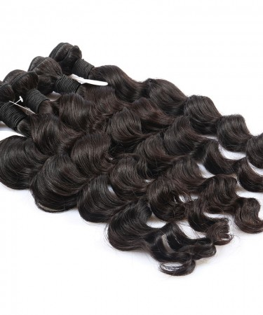Loose Wave 2 Pcs 100% Unprocessed Hair Extensions Human Hair Weave Bundles