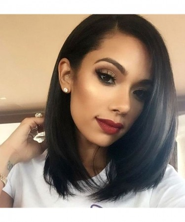 SALE! 10Inch Short Human Hair Wigs 150% Density Straight Bob Wig For Women 360 Lace Frontal Wig Pre Plucked With Baby Hair Natural Black