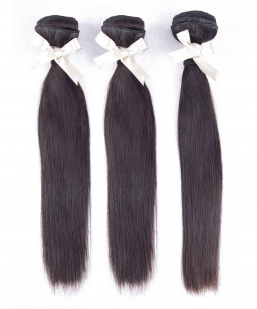 Peruvian Virgin Hair Weave Bundles Straight Bundles 100% Human Hair Bundles 3 Pieces