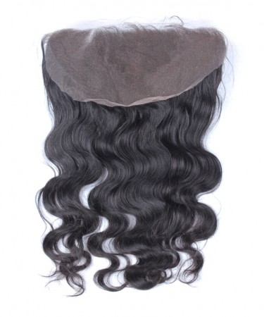 13x6 Lace Frontal Closure Brazilian Remy Hair Body Wave Bleached Knots