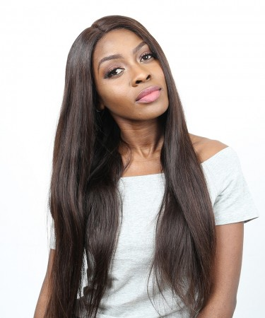 Brown Color #2 360 Lace Frontal Wig Pre Plucked With Baby Hair 180% Density