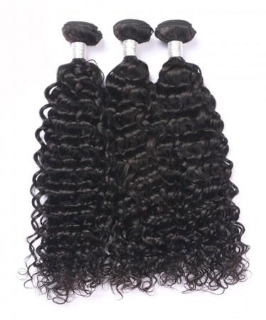 Peruvian Virgin Hair Deep Curly Double Weft Human Hair 3 Bundles
