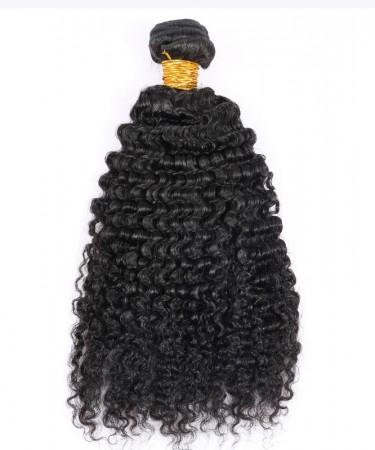 Deep Curly Virgin Hair Weave Double Weft Human Hair 1 Bundle