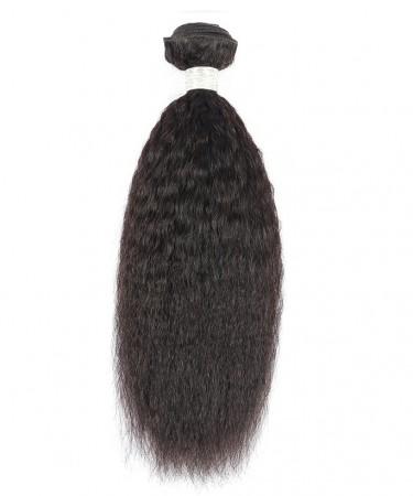 Kinky Straight Brazilian Virgin Hair 1 Piece 100% Human Hair Weaving