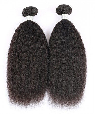 Kinky Straight Brazilian Virgin Hair 3 Pcs 100% Human Hair Weaving