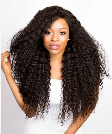 Deep Wave 360 Lace Frontal Closure With 3 Bundles Natural Hairline