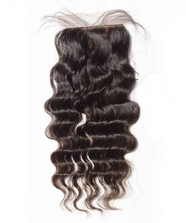Silk Base Closure Loose Wave Brazilian Virgin Hair 4x4 Medium Brown Lace