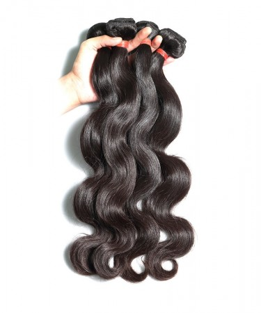 Msbuy Brazilian Body Wave Hair Extensions 100% Remy Human Hair Weave Bundles Natural Color