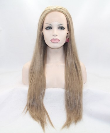 Ash Blonde Synthetic Wig For Black Women