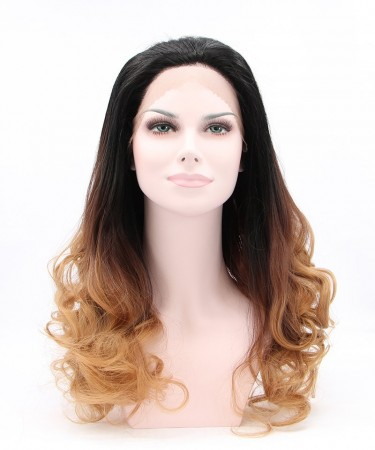 Dark Brown Ombre Synthetic Wig With For Black Women