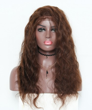 Medium Brown Body Wave 250% High Density Lace Wigs