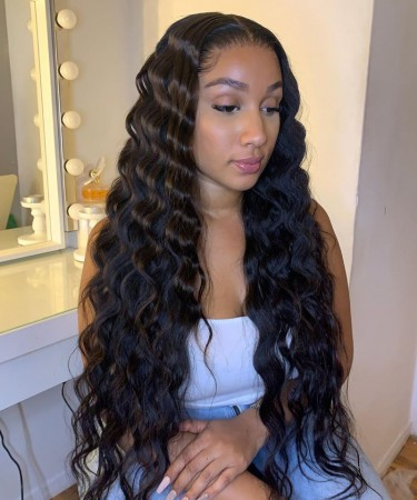 Msbuy Loose Wave 360 Lace Wigs Pre Plucked Brazilian Undetected Lace Wigs With Baby Hair 150% Density