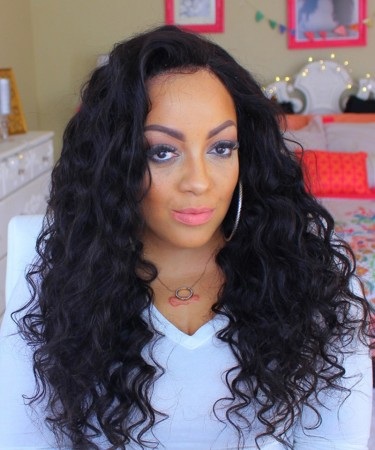 Lace Front Human Hair Wigs with Baby Hair Loose Wave 150% Density