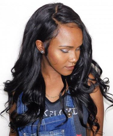 18 Inch Body Wave 13x6 Deep Part Lace Front Human Hair Wigs 150% Density