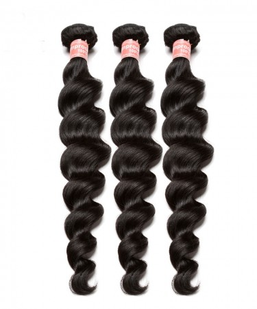 Peruvian Loose Wave non remy Human Hair Extension 3Pcs 100% Hair Weave Bundles 100g Hair Weft Hair Vendors