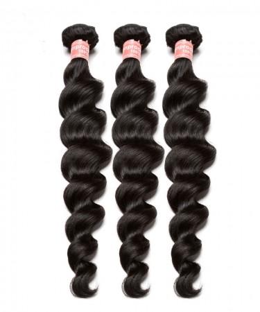 Peruvian Loose Wave non remy Human Hair Extension 3Pcs 100% Hair Weave Bundles 100g Hair Weft Hair Vendors