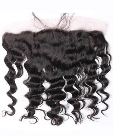 Loose Wave Pre Plucked 13x4 Ear to Ear lace frontal Bleached Knots