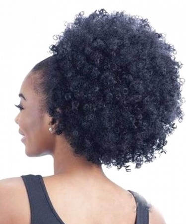 Brazilian Afro Kinky Curly Hair Magic horsetail Wrap Around Ponytail 100g Clip Ins