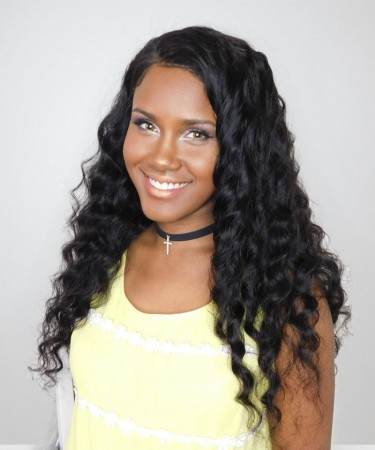 Loose Wave 360 Lace Wigs Pre Plucked Brazilian Lace Wigs 180% Density