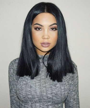 16'' 150% Density 360 Lace Wigs Pre Plucked Natural Hairline Brazilian Hair Straight