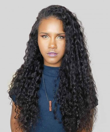 Lace Front Wigs Deep Wave Pre-Plucked Natural Hairline 150% Density