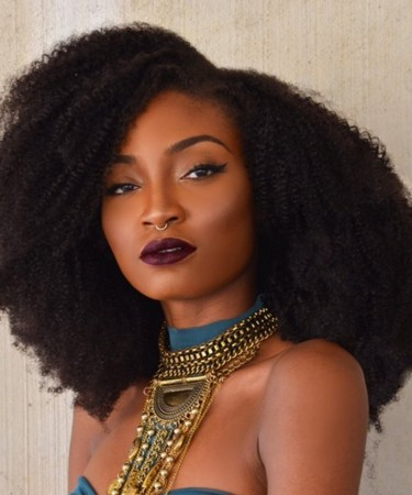 Afro Kinky Curly Super Thick 250% Density Lace Front Human Hair Wigs