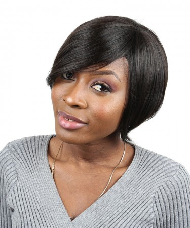 Short Human Hair Bob Wig Brazilian Straight None Lace Human Hair Wigs 8 Inches