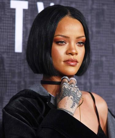 Rihanna Short BOB Thick Hair Style