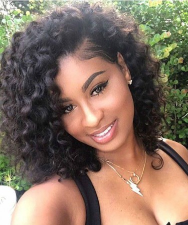 Glueless Lace Front Human Hair 13x4 Bob Wigs Deep Curly For Black Women With Baby Hair 150% Density Pre Plucked Brazilian